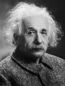 Photo of Albert Einstein head and shoulders
