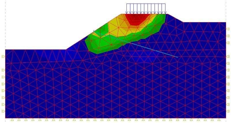Example of FEA Mesh On Earthen Dam